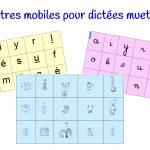 Lettres mobiles pour dictées muettes