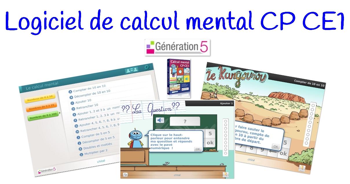 Logiciel De Calcul Mental Cp Ce1