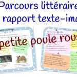 Le rapport texte – image : La Petite poule rousse