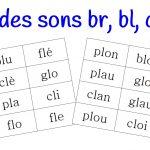 Loto des syllabes br, bl, cr, cl…