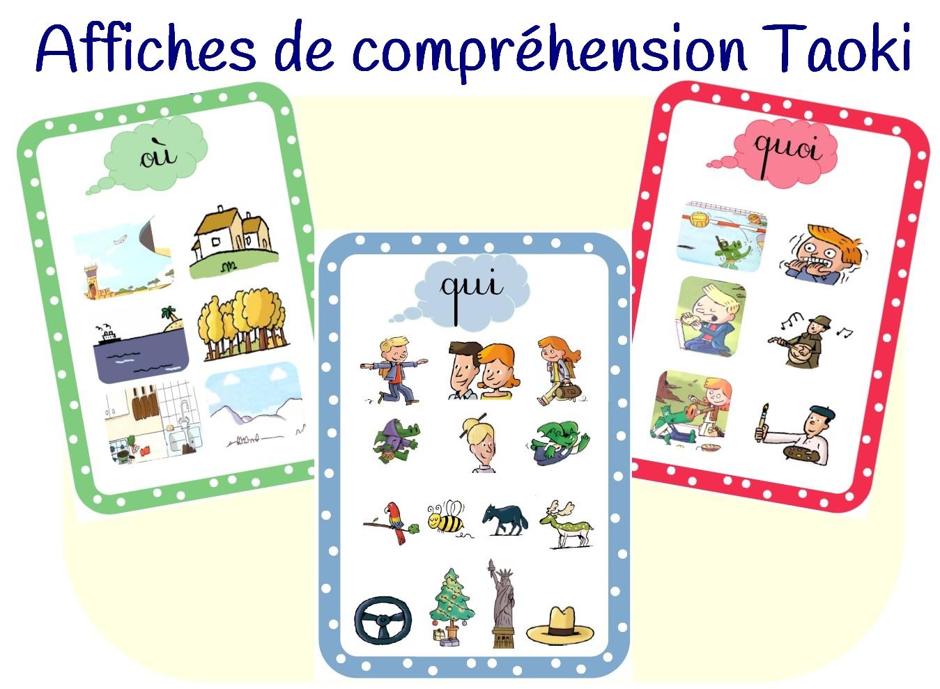 Affiches de compr hension taoki for Affiche regle de la maison