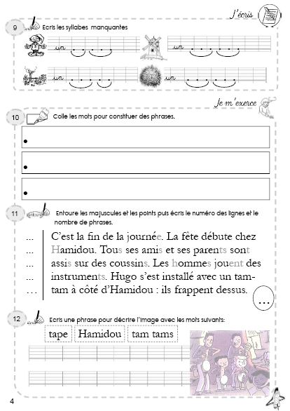 Evaluation Calendrier Ce1.Fiches D Exercices Differenciees Taoki