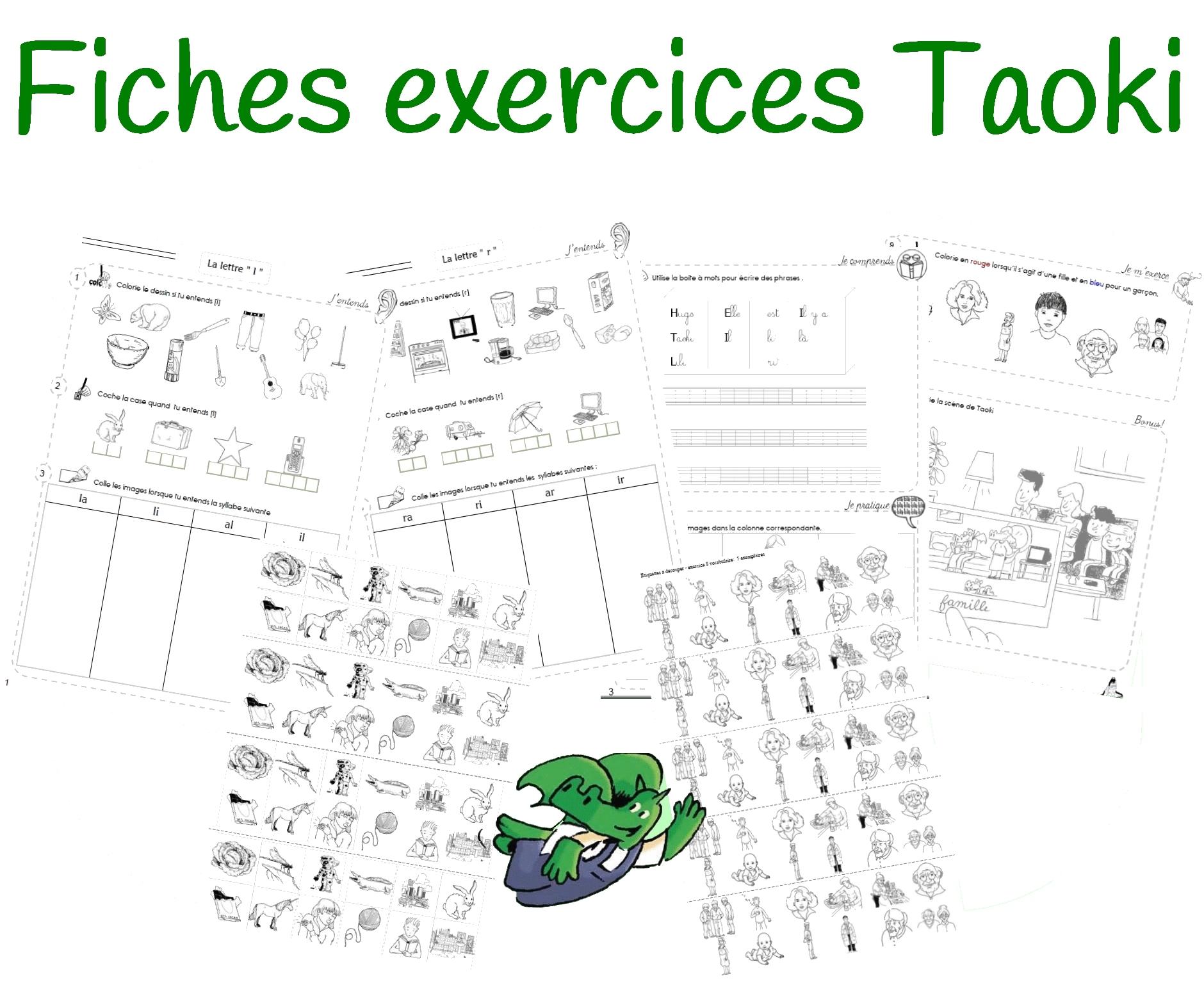 Gut gemocht Fiches d'exercices différenciées Taoki IM55