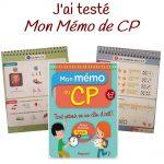 """J'ai testé : """"Mon mémo de CP"""" par Lutin Bazar"""