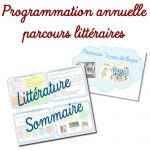 Programmation annuelle de parcours littéraires
