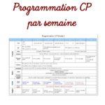 Programmation CP par semaine