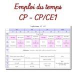 Emploi du temps CP et CP-CE1