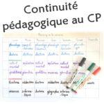 Continuité pédagogique au CP